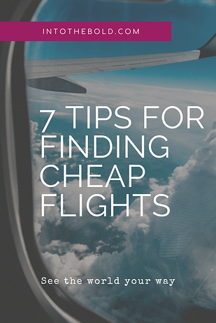 tips for finding cheap flights pin